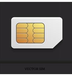 Realistic sim card vector image