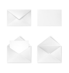 realistic white envelope business mail corporate vector image