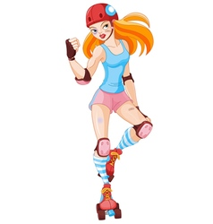 Roller Derby Girl vector