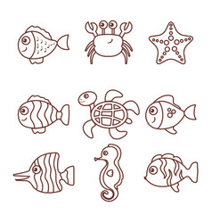 Sea life design vector