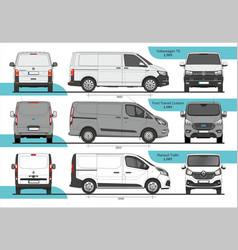 Set cargo vans l1h1 vector