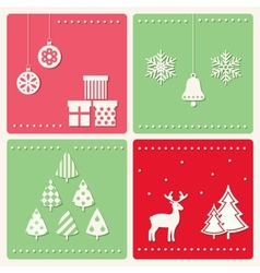 Set of winter celebration images vector