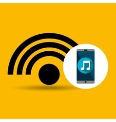 Smartphone music online internet vector