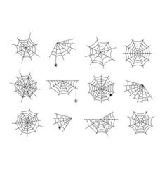 spider webs black halloween cobweb horror web vector image