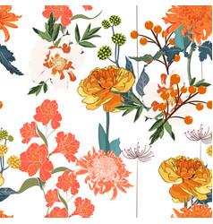 spring orange blossom floral seamless pattern vector image