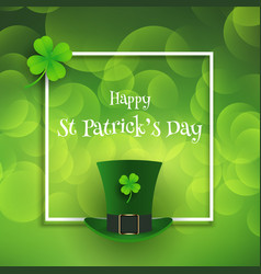 St patricks day background with top hat and vector