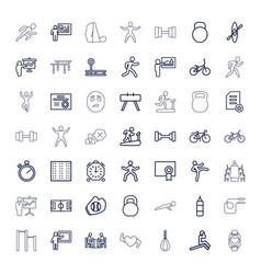 Training icons vector