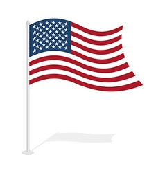 USA flag on white background Developing United vector