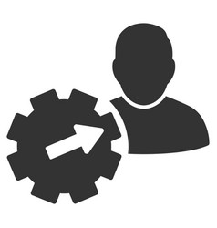 User integration api gear flat icon vector