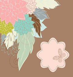 Vintage Flower Background vintage card vector