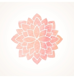 Watercolor pink flower pattern Silhouette of vector
