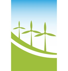 Wind power background vector image