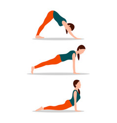 Yoga collection in color vector