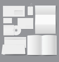 Blank Business Corporate Templates vector image vector image