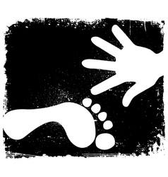Handprint And Footprint vector image