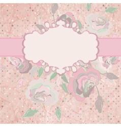 Romantic roses wedding invitation EPS 8 vector image vector image