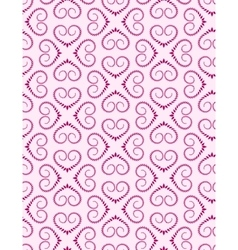 Seamless lace pattern Vintage curled texture vector image vector image