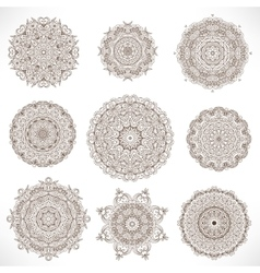 Set Mandalas Round Ornament Pattern vector image vector image