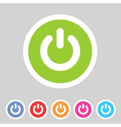 Switch power flat icon badge vector image