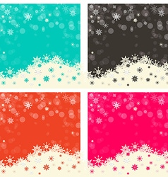Abstract Retro Background Set vector image vector image