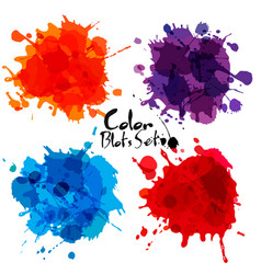 abstract set of color blots vector image