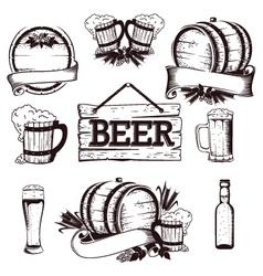 beer set 1 vector image
