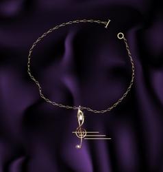 bracelet treble clef vector image vector image