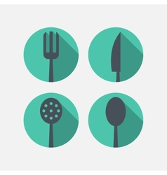 Cutlery icons vector image vector image