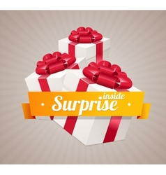 gift box present card vector image vector image