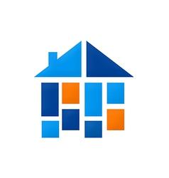 Home construction shape interior logo vector