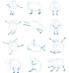 sheep set vector image vector image