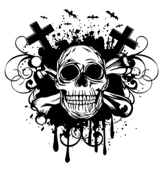 abstract background skull and crossed bones vector image vector image