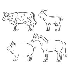 animals farm domestic icon vector image vector image