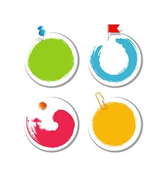 Colorful blob design stickers vector image vector image
