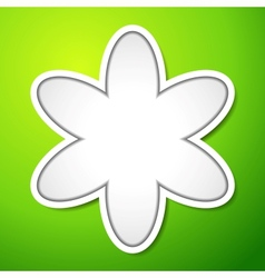 Cutout flower sign with shadows on green vector image vector image