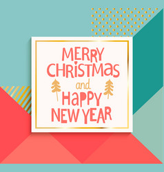 happy new year and merry christmas modern card vector image vector image