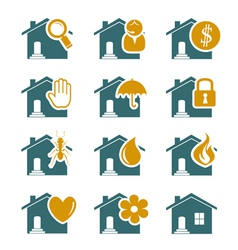 House security and service icons vector image vector image