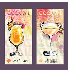 Artistic decorative cocktail menu vector image vector image