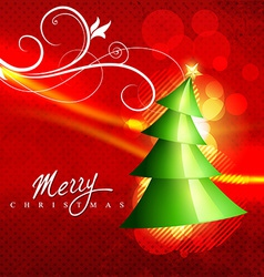beautiful christmas tree vector image vector image