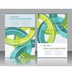 Brochure design element vector