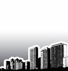 city buildings vector image vector image