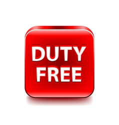 Duty free icon isolated on white vector image vector image