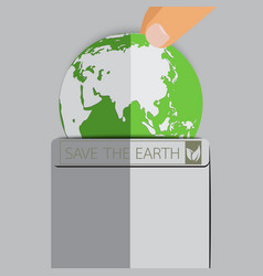 earth in pocket vector image vector image