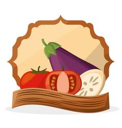 Vegetables fresh food healthy poster vector