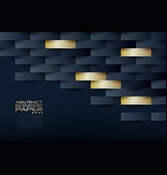 abstract 3d geometric pattern luxury dark blue vector image