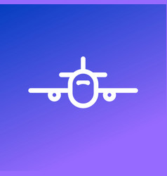 airplane icon isolated airplane modern symbol vector image