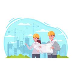 architect work cartoon vector image
