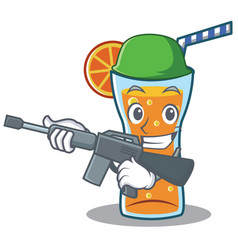army cocktail character cartoon style vector image