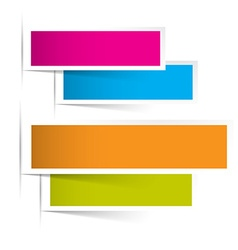 Background with Colorful Paper Sheets vector image
