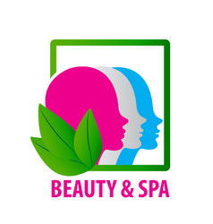 beauty faces fashion spa logo vector image